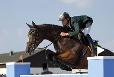 Horse jumping show