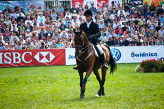 Horse jumping tournament Royalty Free Stock Photography