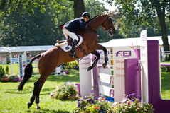 Horse jumping tournament Stock Image