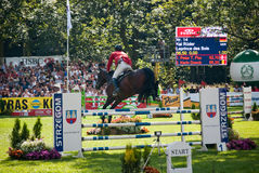 Horse jumping tournament Stock Photography