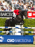 Horse jumping Stock Photo