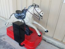 Horse kiddie ride. Coin operated horse ride Stock Images
