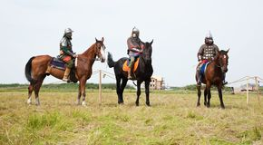 Horse knight Stock Images