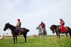 Horse knights Stock Photos