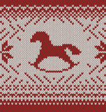 Horse. Knitted seamless background Royalty Free Stock Photo