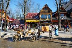 Horse at Krupowki, Zakopane, Poland Stock Images