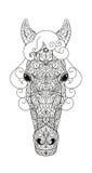horse landbouwbedrijf, schone het paardstallen van Nice Vector illustratie Royalty-vrije Stock Afbeelding