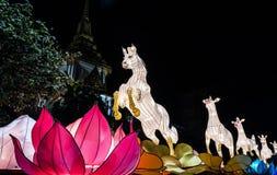 Horse lantern model display in Bangkok Royalty Free Stock Photos