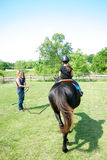 Horse Lessons Stock Image