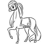 Horse line coloring pages Royalty Free Stock Photo