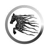 Horse logo, Royalty Free Stock Images