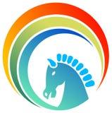 Horse logo. Isolated illustrated horse head logo design Stock Photos