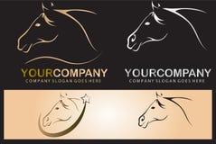 Horse logo design Royalty Free Stock Image