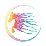 Horse logo,. Illustration with circle background Stock Photo