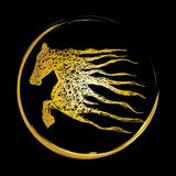 Horse logo, Royalty Free Stock Photography