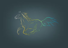 Horse logo Royalty Free Stock Images