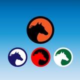Horse Logo. Logo of a silhouette horse, 100% vector Stock Photos