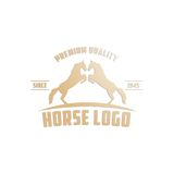 Horse Logo Template Royalty Free Stock Photography
