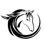 Horse logo vector Royalty Free Stock Image