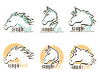 Horse logo Royalty Free Stock Photo