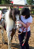 Horse and lovely girl equestrian Stock Photography
