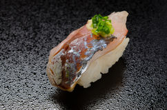 Horse mackerel sushi Stock Photo