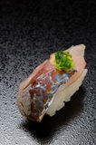 Horse mackerel sushi Stock Images
