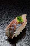Horse mackerel sushi Stock Images