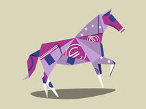 Horse made of euro banknote cartoon vector Stock Images