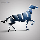 Horse made of filmstrip. Vector illustration. Eps 10 Royalty Free Stock Image