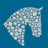 Horse made of flowers Royalty Free Stock Image