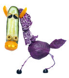Horse made of vegetables Stock Photography