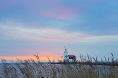 "Horse of Marken Lighthouse IJsselmeer Holland Volendam Netherlan. The Paard van Marken lighthouse, translated as ""Horse of Marken"", is a famous Dutch Royalty Free Stock Photos"