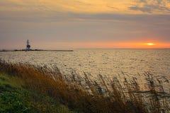 "Horse of Marken Lighthouse IJsselmeer Holland Volendam Netherlan. The Paard van Marken lighthouse, translated as ""Horse of Marken"", is a famous Dutch Royalty Free Stock Image"
