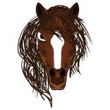 Horse Mascot Cartoon Head Vector illustration Royalty Free Stock Photography