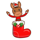 The Horse mascot has been welcomed with both hands. Christmas Ch Stock Image