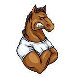 Horse mascot, team label design Royalty Free Stock Photo