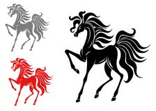Horse mascots Stock Images
