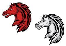 Horse mascots Stock Photography
