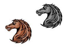 Horse mascots Royalty Free Stock Photography