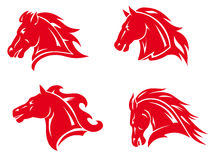 Horse mascots and tattoos Royalty Free Stock Image