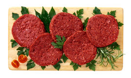 Horse meat burger Stock Photography