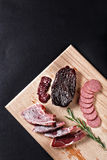 Horse meat on cutting board Royalty Free Stock Image