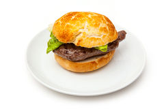 Horse meat steak burger Stock Photo