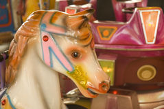 Horse in the merry-go-round Royalty Free Stock Photos