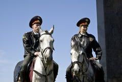Horse militia Royalty Free Stock Image