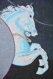 Horse mural. SAN DIEGO CA USA APRIL 7: Horse mural in Balboa Park vibrant WorldBeat Cultural Centeron april 7 2015 in San Diego CA USA Royalty Free Stock Photos