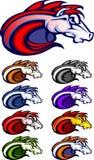 Horse / Mustang / Bronco Mascot Logo Royalty Free Stock Photo