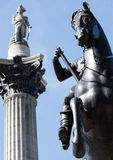 Horse and Nelson Statue Royalty Free Stock Photo