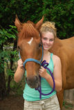 Horse and new owner Stock Photos